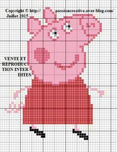 Grille gratuite point de croix : Peppa Pig