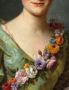 Alexander Roslin. Detail from Portrait of a Lady, 18th Century.
