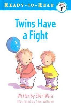 Rhyming text follows a set of twins as they fight over two new toys, break one, and learn to share the other.