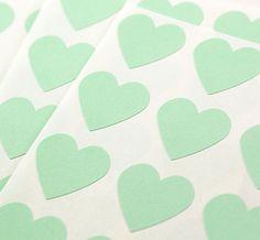 mint hearts- pinterest