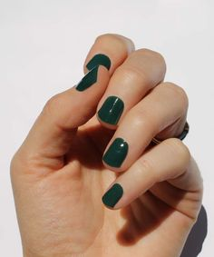 Solid Forest Nail Wraps - Set of Two