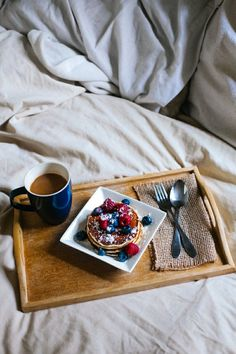 breakfast in bed ... then stay until it's dark again. It pays to do nothing to feel happy haha - C