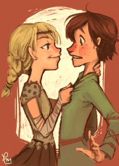Astrid and Hiccup :)