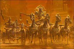 Tomb Kings. Skeleton kings in chariots