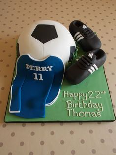 Football cake by Scrumptious Cakes Minehead