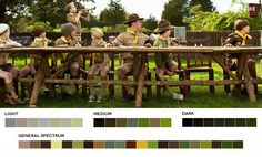 Bring the great outdoors inside via lush greens,dense browns, and textural woods. The Khaki Scout uniform serves as the perfect muse for adding a touch of gold to any all-natural palette.