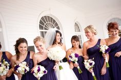 Lapis bridesmaids dresses - same color as my ladies are wearing, but they're all different styles.