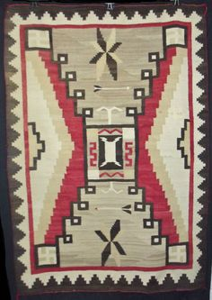 Fine Antique Indian Rug Navajo Storm Crystal Native American Blanket Textile | eBay