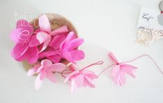 DIY - Pink flowers garland - by Bohème Circus