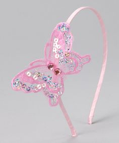 Another great find on #zulily! Pink Sequin Butterfly Headband by Princess Expressions #zulilyfinds