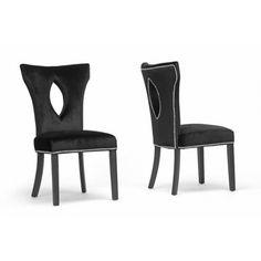 Hallie Black Dining Chair (Set Of 2)