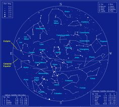 Example of a star map of the northern hemisphere sky for a winter evening Cosmos, Constellation Chart, Constellation Dress, Celestial Sphere, Star Constellations, Star Chart, To Infinity And Beyond, Space Exploration, Milky Way