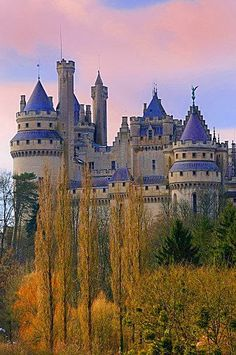 Pierrefonds Castle in France  ~ this one really looks like something right out of a fairy tale!