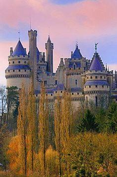 """""""Camelot"""" Pierrefonds Castle in France. Built c. 1393-1407 Built by Louis I de Valois, Duke of Orléans"""