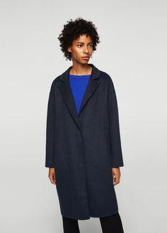 Wool handmade coat - Women | MANGO USA
