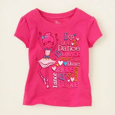 dance girl graphic tee children's place 5.00