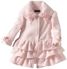 Amazon.com: Kate Mack Baby-Girls Newborn Left Bank Ruffle Coat, Pink, 0-6 Months: Clothing