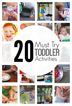 20 Must Try Toddler Activities #totschool #simpletoddlerplay