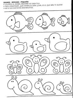 Kleur het middelste dier. Welke dieren zijn het? Thema: dieren