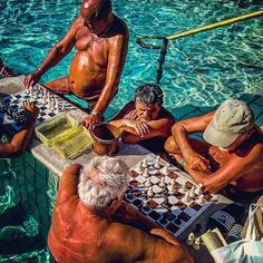 Chess players are a regular sight at the Szechenyi Baths in Budapest - one of the largest thermal baths in Europe. Locals and tourists alike enjoy its 15 indoor baths and 3 outdoor pools all year round