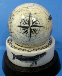 billiard ball scrimshaw