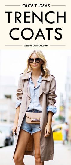 12 unexpected-yet-stylish ways to wear a trench coat. // #OutfitIdeas