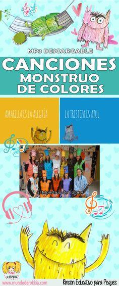 3 Canciones del Monstruo de Colores + MP3 descargables - Mundo de Rukkia Kids Birthday Presents, Learn English, Toddler Activities, Kids And Parenting, Ideas Para, Fun Crafts, Kids Toys, Homeschool, Education