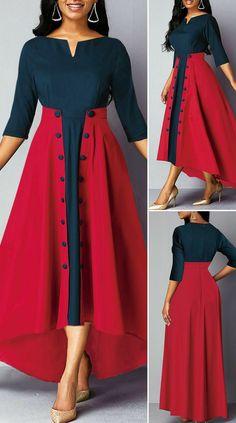 Long Dress Design, Dress Neck Designs, Stylish Dress Designs, Designs For Dresses, Party Wear Dresses, Dress Outfits, Wedding Dresses, Dress Clothes, Party Dress