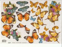 Butterfly Images, Arts And Crafts, Diy Crafts, 3d Photo, 3d Cards, Some Ideas, Butterflies, Card Making, Study Help
