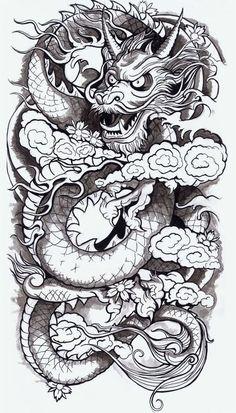 Каталог эскизов тату с драконами, идеи для разработки индивидуального дизайна, фотографии татуировок. Значение тату с драконом.