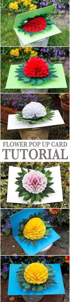 Flower Pop up Card.                                                                                                                                                                                 More
