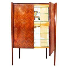 via BKLYN contessa :: Rare Italian Art Moderne Freestanding Bar Cabinet by Paolo Buffa