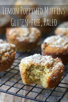 Moist and cakey, these paleo lemon poppyseed muffins are like sweet little bursts of sunshine on a stay-in-your-pajamas rainy day . . . or any day, really.
