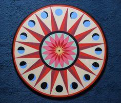 Pennsylvania Dutch Hex Sign  Sun and Moon 1 by HexOnTheBeach, $150.00