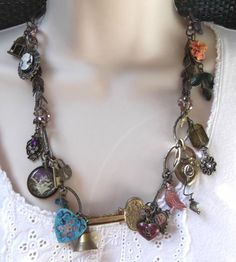SteamPunk  Antique Brass with Lots of Charms!  SOLD!