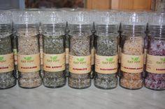Für den gesalzenen Genuss! Kräuter- und Blütensalze von Bio- Kräutergarten Elke Piff #Kräuter