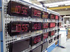 Bodet Style 12 LED clock in Bodet Factory at Trémentines, Pays de Loire - France.