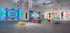Ben Jones, Day Glow, Video Installation, Mario Brothers, Psychedelic, Cyber, Animation, Abstract, Gallery