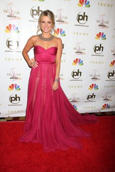Ali Fedotowsky wore a Maria Lucia Hohan gown with an Amrapali necklace and bracelet to the 2012 Miss USA pageant the Planet  Hollywood Resort & Casino on 3 June 2012 in Las Vegas, Nevada