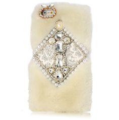 iPhone 6 Plus - Exquisite Beads & Fur Case in Assorted Designs - Thumbnail 4
