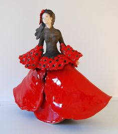 Sculpture Céramique Raku Fille Coquelicot 2014 Pauline Wateau