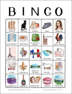 France travel bingo card by PenLensPaintbrush.com