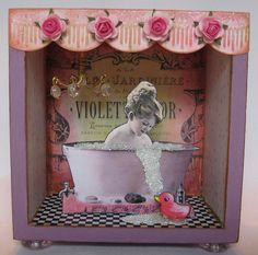 "Original Altered Art Shadow Box  ""Bathing Beauty""  Sold on ebay 2008  myworld.ebay.com/gossamercreations/     Perception may be the reality but if your worried about overweight you are"