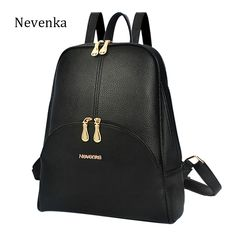 Nevenka Brand Women Bag Preppy Backpack Leather Student Zipper Bags Solid Pendants Preppy Sac Casual Backpacks Teenagers Mochila -- Find out more by clicking the image