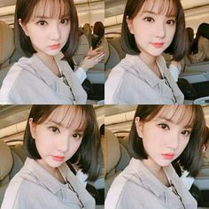Check out GFriend @ Iomoio Very Beautiful Woman, Beautiful Asian Girls, Cute Hairstyles For Short Hair, Short Hair Styles, South Korean Girls, Korean Girl Groups, Jung Eun Bi, G Friend, Cute Shorts