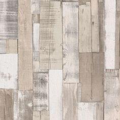 Rasch Wooden Planks Wallpaper - Natural