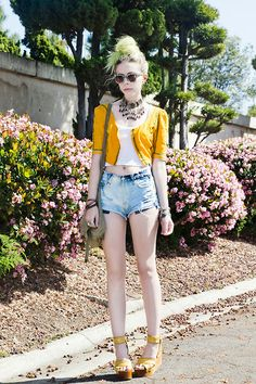 Warm as Yellow (by Madeline Pendleton) http://lookbook.nu/look/3294845-Warm-as-Yellow