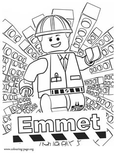 Meet Emmet! He is the main character of The Lego Movie. How about have fun with this amazing free coloring page?