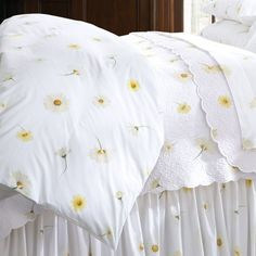 Daisies Percale Duvet Cover