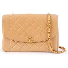 Chanel Vintage Quilted Shoulder Bag (5,500 NZD) ❤ liked on Polyvore featuring bags, handbags, shoulder bags, quilted purse, chanel shoulder bag, chain shoulder bag, vintage purse and shoulder bag purse
